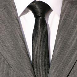 Cravate SLIM ETROITE 4cm noir ROCK