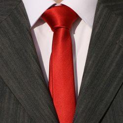 Cravate SLIM ETROITE 4cm rouge PUNK