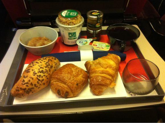 J'ai teste le petit déjeuner dans le Thalys