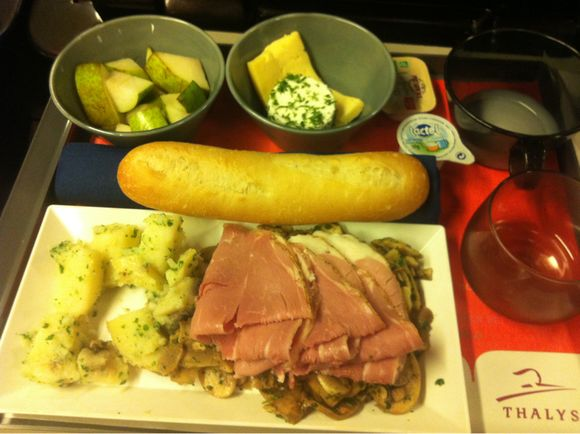 Avis sur le diner a bord du Thalys Bruxelles Paris