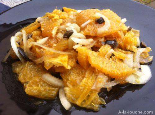 Salade orange et oignons des cevennes