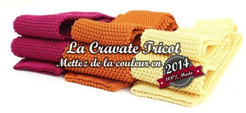 Cravate Tricot soie METTEZ DE LA COULEUR