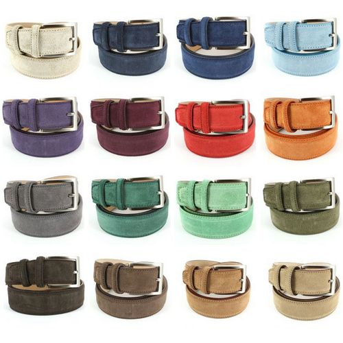 16 couleurs de ceintures en daim