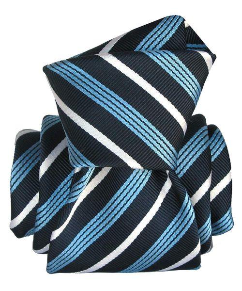 Cravate Segni Disegni LUXE, Faite main, MOGADOR, Angel Bleu