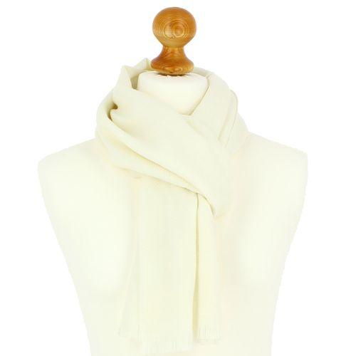 Echarpe en laine d'Australie, 50x190cm, blanc Everest
