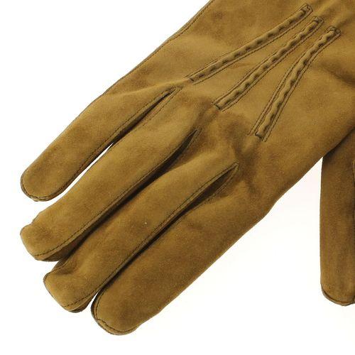 Gant cuir camel Luxe Homme, daim-cachemire, fait main en Italie-2