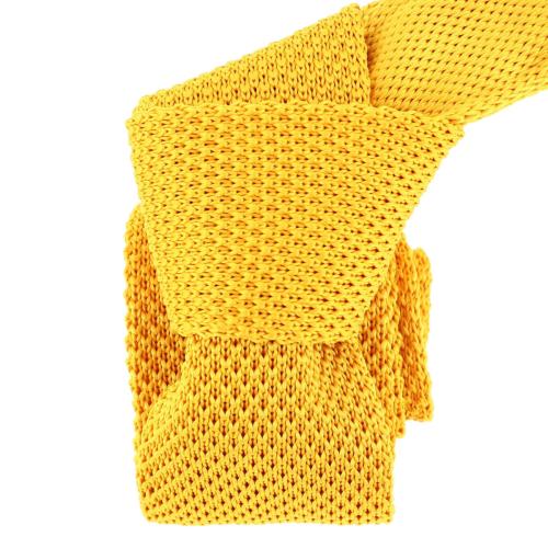 Cravate Tricot. Jaune bouton d'or