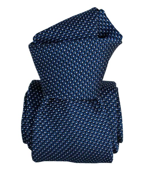 Cravate grenadine de soie  Segni & Disegni  Paris VI  Bleuet