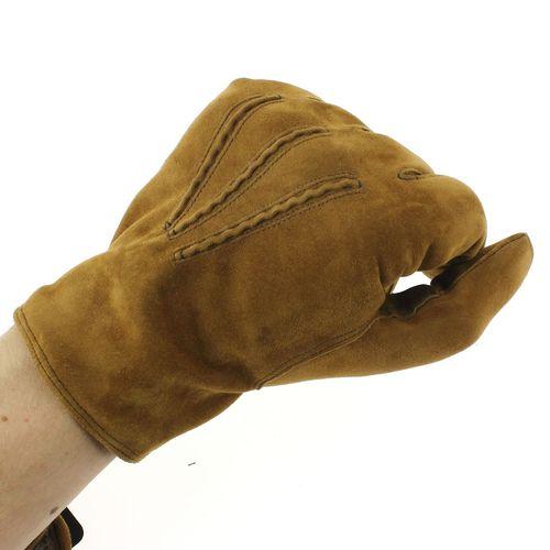 Gant cuir camel Luxe Homme, daim-cachemire, fait main en Italie-5