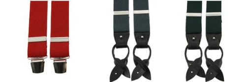 Bretelle 3 attaches Hercule, vert gris et bretelles clip rouge
