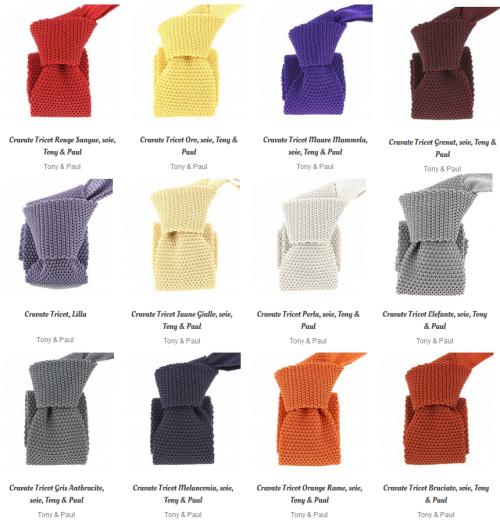 Cravates tricot soie copie 2