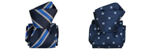 Cravate Segni Disegni LUXE  Faite main Bleu