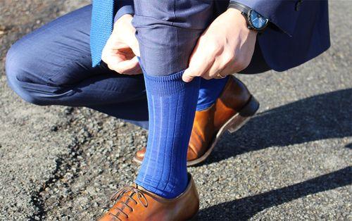 Chaussettes bleu