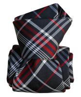 Cravate Segni Disegni LUXE  Faite main livigno bleu marine - reduit